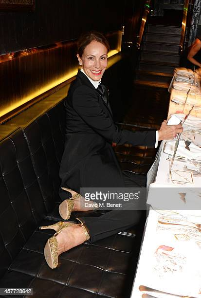 Andrea Dellal attends the Charlotte Olympia 'Handbags for the Leading Lady' launch dinner at Toto's Restaurant on October 23 2014 in London England