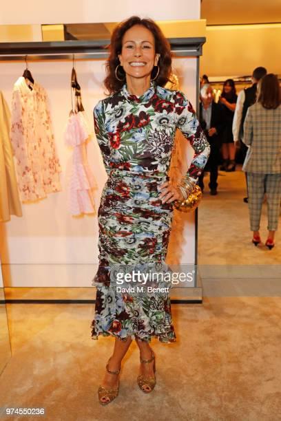 Andrea Dellal attends the Giambattista Valli London store opening on Sloane Street on June 14 2018 in London England