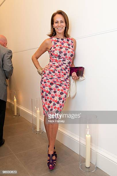 Andrea Dellal attends the private viewing of 'Phillips de Pury BRIC' at the Saatchi Gallery on April 17 2010 in London England