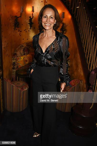 Andrea Dellal attends Zac Posen's dinner to celebrate his first women's collection for Brooks Brothers at Loulou's on June 8 2016 in London England
