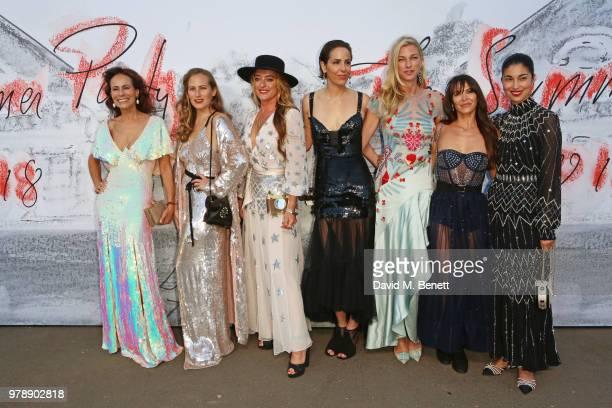 Andrea Dellal Charlotte Dellal Alice Temperley Countess Nicole Brachetti Peretti Vanessa Arelle guests and Caroline Issa attend the Serpentine...