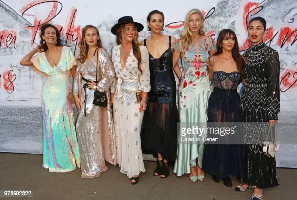 Andrea Dellal Charlotte Dellal Alice Temperley Countess Nicole Brachetti PerettiVanessa Arelle guests and Caroline Issa attend the Serpentine Summper...