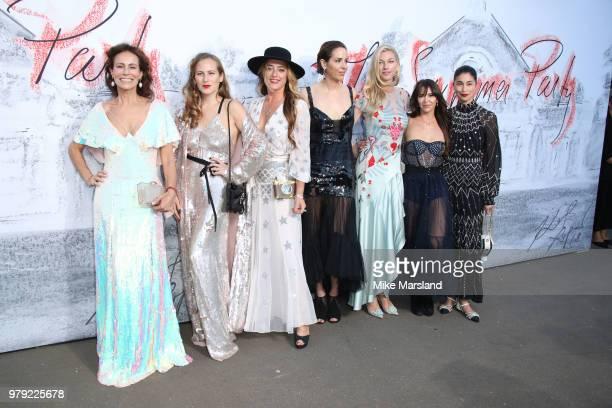 Andrea Dellal Charlotte Dellal Alice TemperleyCountess Nicole Brachetti Peretti Vanessa Arelle and Caroline Issa attend The Serpentine Summer Party...