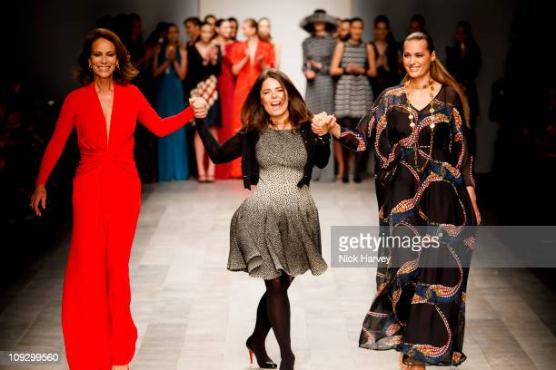 Andrea Dellal Daniella Issa Helayel and Yasmin le Bon A model walks the runway at the Issa A/W 2011 show at London Fashion Week on February 19 2011...