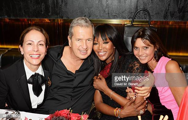 Andrea Dellal, Mario Testino, Naomi Campbell and Countess Debonaire von Bismarck attend the Charlotte Olympia 'Handbags for the Leading Lady' launch...