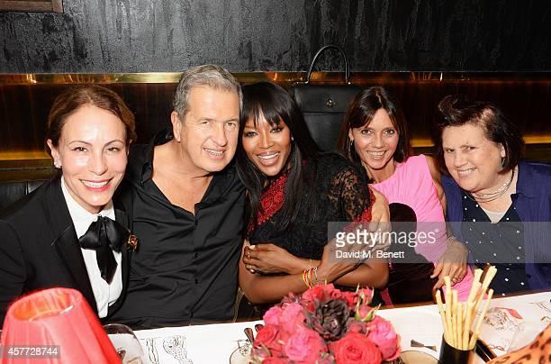 Andrea Dellal, Mario Testino, Naomi Campbell, Countess Debonaire von Bismarck and Suzy Menkes attend the Charlotte Olympia 'Handbags for the Leading...