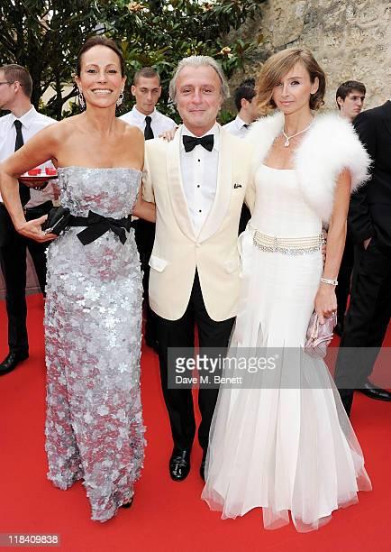Andrea Dellal Rafi Manoukian and Joanne Manoukian arrive at The White Fairy Tale Love Ball hosted by Valentino Garavani and Natalia Vodianova in aid...