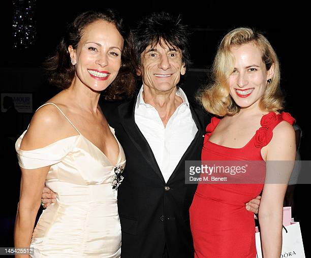 Andrea Dellal Ronnie Wood and Charlotte Dellal attend an after party following the Glamour Women of the Year Awards in association with Pandora at...