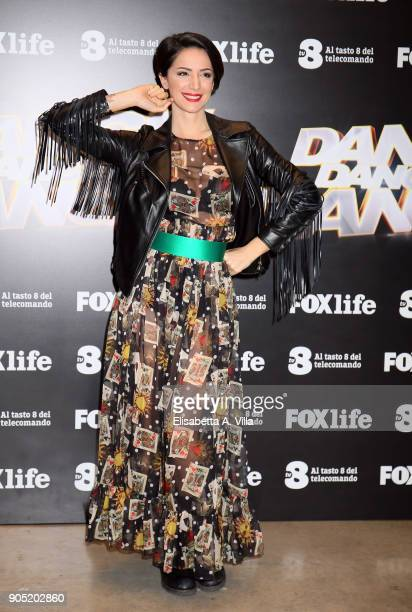 Andrea Delogu attends 'Dance Dance Dance' tv show photocall on January 15 2018 in Rome Italy