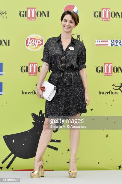 Andrea Delogu attends Giffoni Film Festival 2017 Day 2 Photocall on July 14 2017 in Giffoni Valle Piana Italy