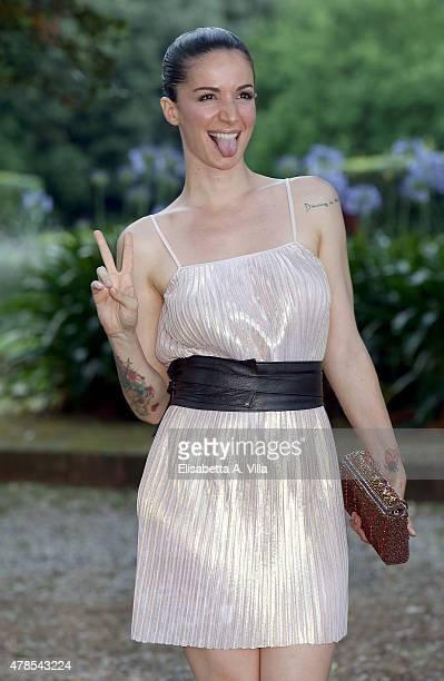 Andrea Delogu attends RAI Yearly TV Show Schedule at Villa Piccolomini on June 25 2015 in Rome Italy