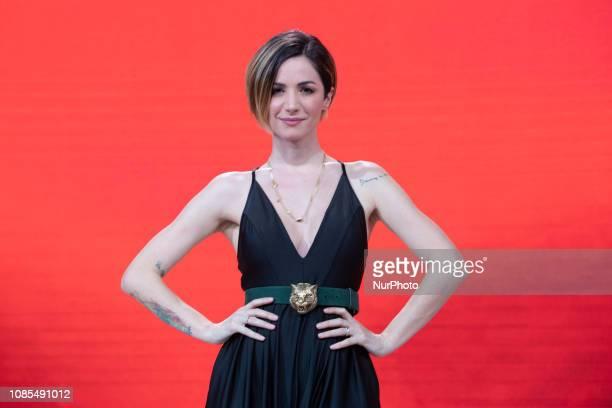 Andrea Delogu attends Stracult TV Program on RAI 2 TV in Rome Italy on 17 January 2019 Talk show about cinema and everything that revolves around the...
