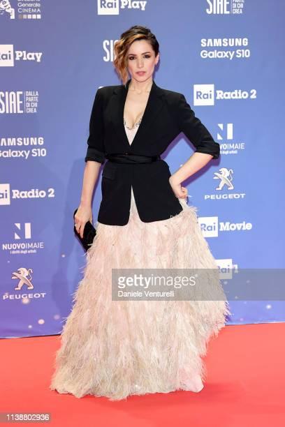 Andrea Delogu attends the 64 David Di Donatello awards on March 27 2019 in Rome Italy