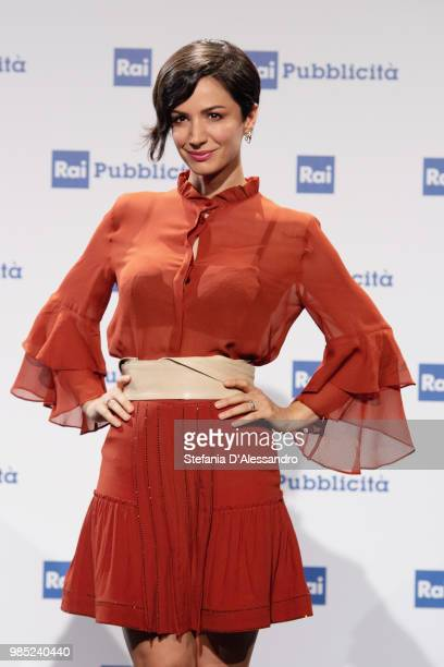 Andrea Delogu attends the Rai Show Schedule presentation on June 27 2018 in Milan Italy