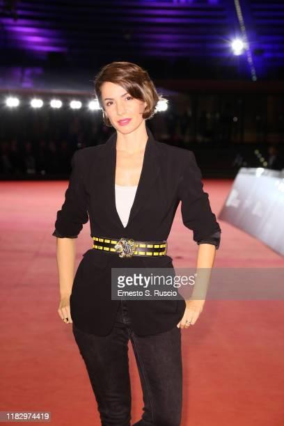 Andrea Delogu attends the red carpet of the movie Il terremoto di Vanja during the 14th Rome Film Festival on October 23 2019 in Rome Italy