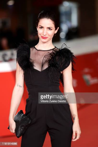 Andrea Delogu attends the Scary Stories to Tell in The Dark red carpet during the 14th Rome Film Festival on October 18 2019 in Rome Italy