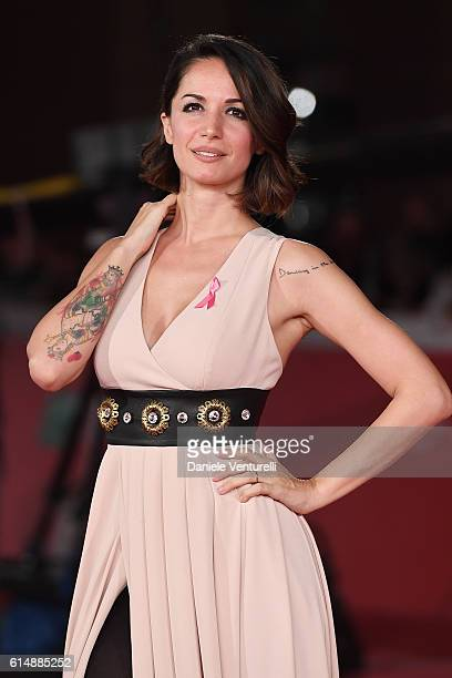Andrea Delogu walks a red carpet for 'Sole Cuore Amore' during the 11th Rome Film Festival at Auditorium Parco Della Musica on October 15 2016 in...