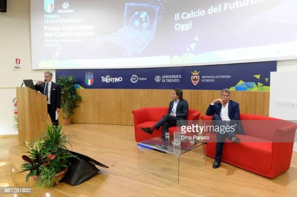 Andrea Di Caro of Gazzetta dello sport Referee Roberto Rosetti Ptoject leader Video assistant Referee VAR and Valter di Salvo responsible for...