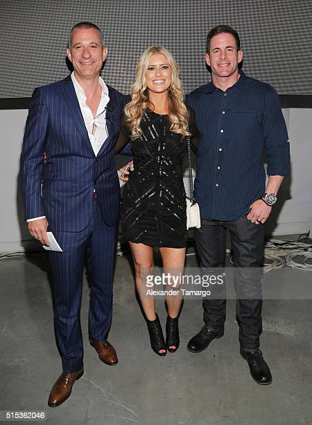 Andrea Di Giuseppe Global CEO Christina El Moussa Tarek El Moussa of HGTV's 'Flip or Flop' new North American brand ambassadors attend the TREND...
