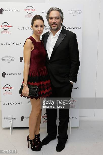 Andrea Di Stefano and his wife attend the Closing Dinner Party during the 9th Rome Film Festival on October 25 2014 in Rome Italy