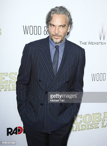 Andrea Di Stefano arrives at the Los Angeles premiere of Escobar Paradise Lost held at ArcLight Hollywood on June 22 2015 in Hollywood California