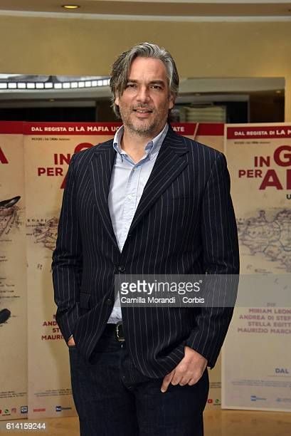 Andrea Di Stefano attends a photocall for 'In Guerra Per Amore' on October 12 2016 in Rome Italy