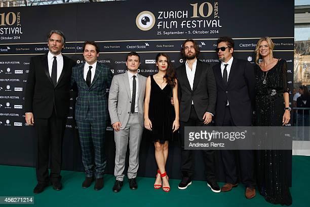 Andrea Di Stefano Karl Spoerri Josh Hutcherson Claudia TraisacDimitri Rassam Benicio del Toro and Nadja Schildknecht attend the 'EscobarParadise...