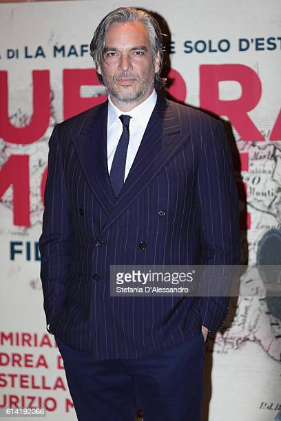 Andrea Di Stefano walks a red carpet for 'In Guerra Per Amore' on October 12 2016 in Rome Italy