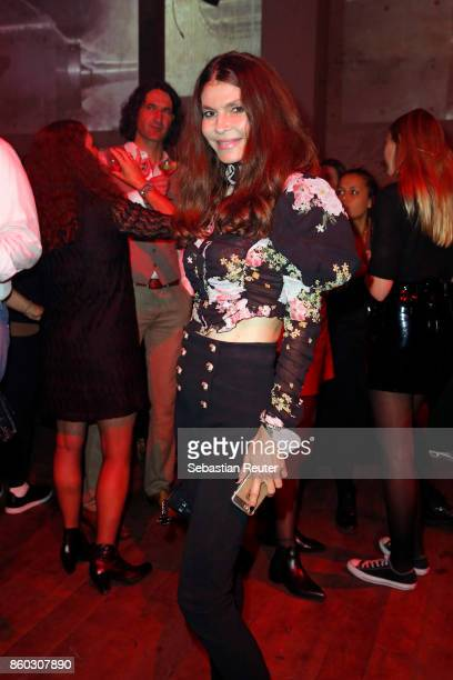 Andrea Dibelius attends the Moncler X Stylebopcom launch event at the Musikbrauerei on October 11 2017 in Berlin Germany