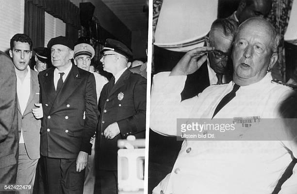 Andrea Doria' Die Kapitäne der Unglücksschiffe Piero Calamai Kapitän der italienischen 'Andrea Doria' und Gunnar Nordenson Kapitän der schwedischen...