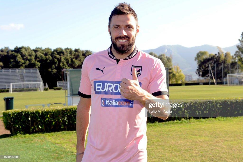 US Citta di Palermo Unveils New Signing Andrea Dossena