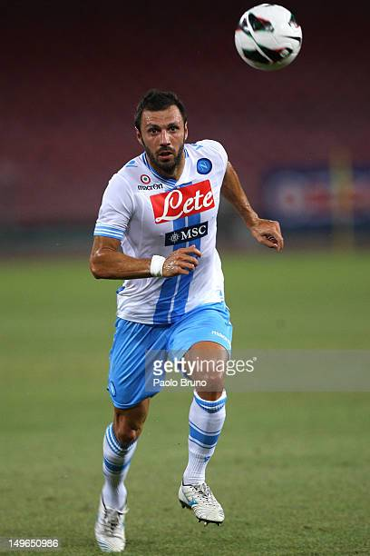 Andrea Dossena of SSC Napoli in action during the preseason friendly match between SSC Napoli and FC Girondins de Bordeaux at Stadio San Paolo on...
