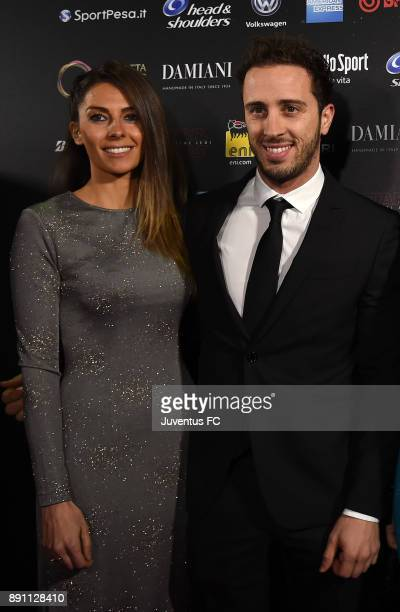 Andrea Dovizioso and Alessandra Rossi attend the Gazzetta Sports Awards on December 12 2017 in Milan Italy