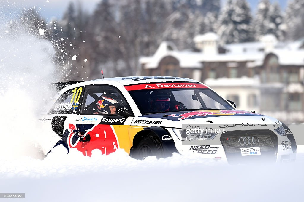 Andrea Dovizioso drives during the final day of the Audi Quattro #SuperQ on January 20, 2016 in Kitzbuehel, Austria.