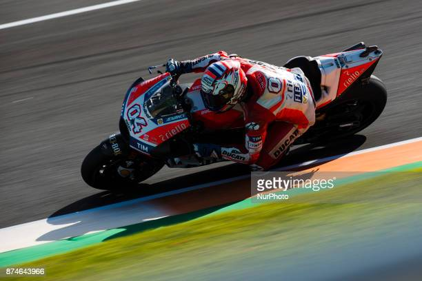 Andrea Dovizioso Ducati Team during the tests of the new season MotoGP 2018 Circuit of Ricardo TormoValencia Spain Wednesday 15th of november 2017