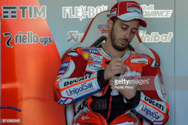 Andrea Dovizioso during Motogp test day at Valencia circuit.
