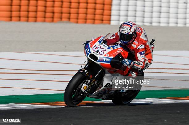 Andrea Dovizioso during qualifying session at Valencia Motogp