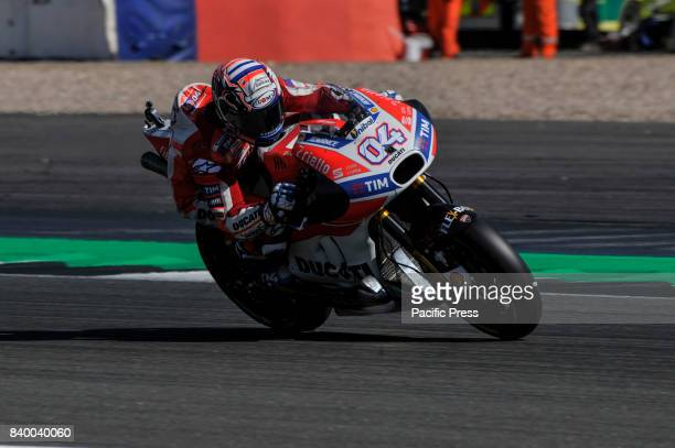 Andrea Dovizioso in action during motogp race at Silverstone Circuit for British motoGP