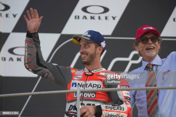 04 Andrea DOVIZIOSO ITA Ducati Team Ducati podium winner during Race MotoGP at the Mugello International Cuircuit for the sixth round of MotoGP World...