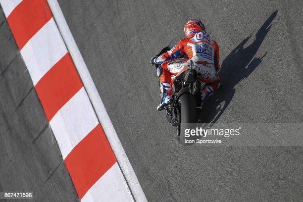 Andrea Dovizioso of Ducati Racing Team in action during saturday's free practice session of the Malaysian Motorcycle Grand Prix on October 28 at...