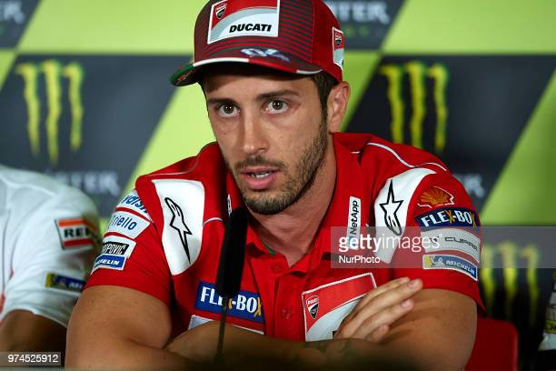 Andrea Dovizioso of Italy and Ducati Team during the press conference before of the Gran Premi Monster Energy de Catalunya Circuit of Catalunya...