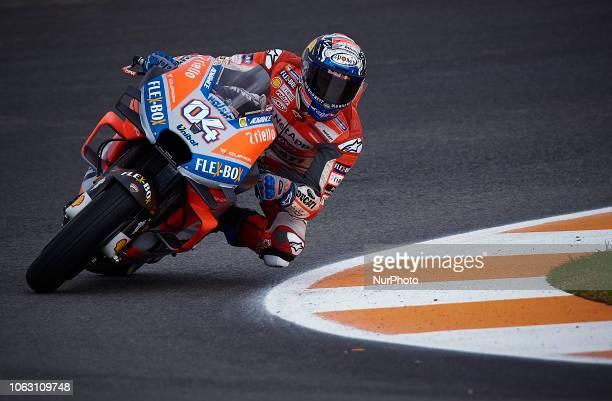 Andrea Dovizioso of Italy and Ducati Team during the qualifying of the Gran Premio Motul de la Comunitat Valenciana of world championship of MotoGP...