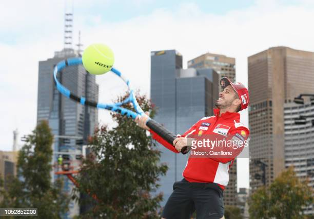 Andrea Dovizioso of Italy and Ducati Team poses during a media call ahead of the 2018 MotoGP of Australia at on October 24 2018 in Melbourne Australia