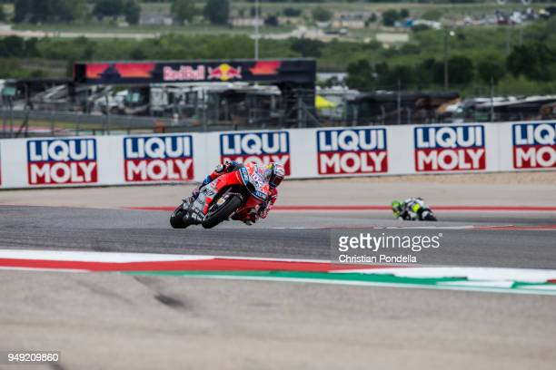 Andrea Dovizioso of Italy rounds the bend during the MotoGP Red Bull US Grand Prix of The Americas Free Practice 1 at Circuit of The Americas on...
