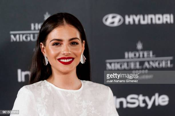 Andrea Duro attends 'El Jardin Del Miguel Angel And Instyle Beauty Night' party at Miguel Angel Hotel on May 22 2018 in Madrid Spain