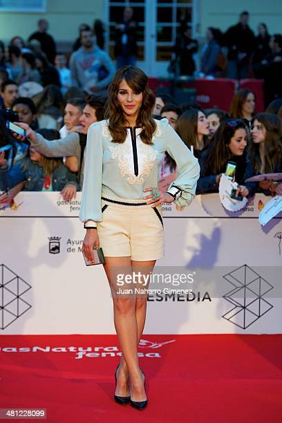 Andrea Duro attends 'La Vida Inesperada' premiere during the 17th Malaga Film Festival 2014 at Teatro Cervantes on March 28 2014 in Malaga Spain