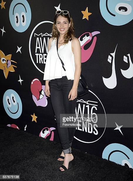 Andrea Duro attends MAC Cosmetics event at the Jardines de Cecilio Rodriguez on June 2 2016 in Madrid Spain
