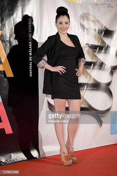 Andrea Duro attends Malaga Film Festival party photocall at Casa de America on March 1, 2011 in Madrid, Spain.