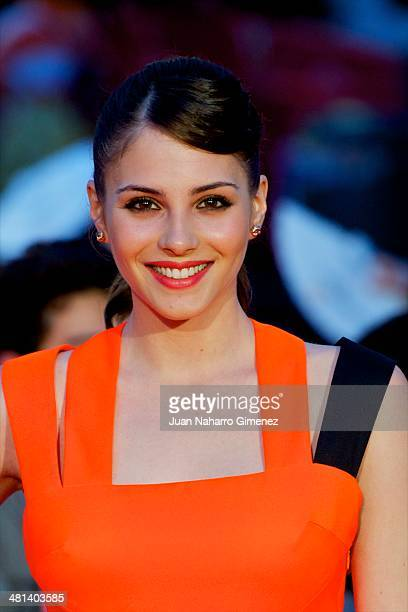Andrea Duro attends the 17th Malaga Film Festival 2014 closing ceremony at the Cervantes Theater on March 29 2014 in Malaga Spain
