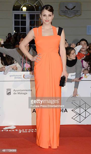 Andrea Duro attends the 17th Malaga Film Festival 2014 closing ceremony on March 29 2014 in Malaga Spain